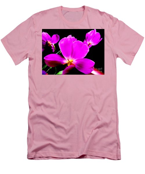 Glowing Tulips Men's T-Shirt (Slim Fit) by Tim Townsend