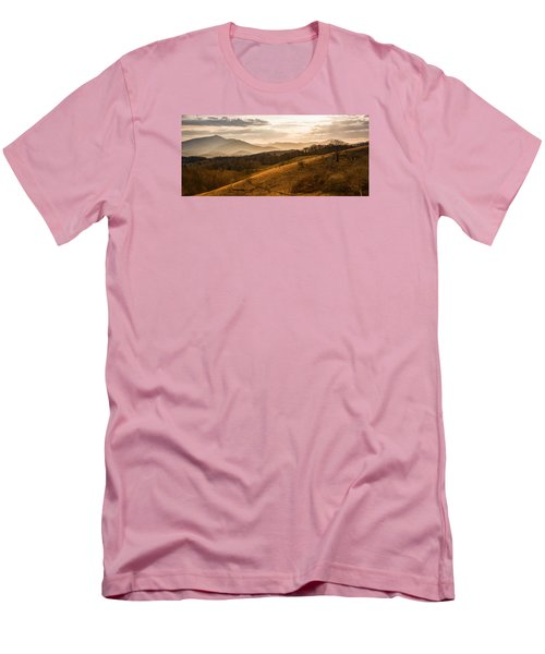 Grandfather Mountain Sunset - Moses Cone Blue Ridge Parkway Men's T-Shirt (Athletic Fit)
