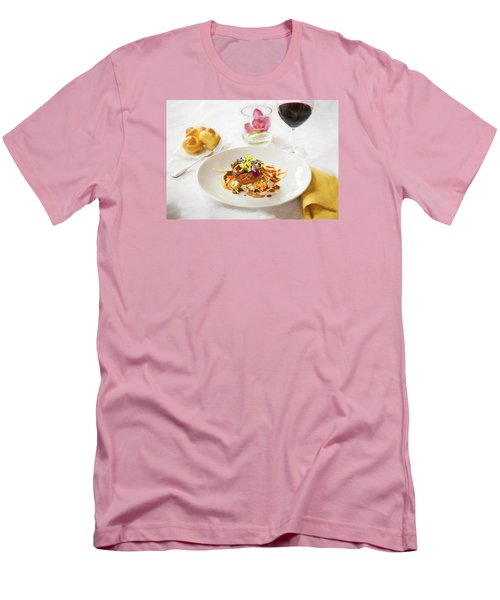Good Eats Men's T-Shirt (Slim Fit) by Rich Franco