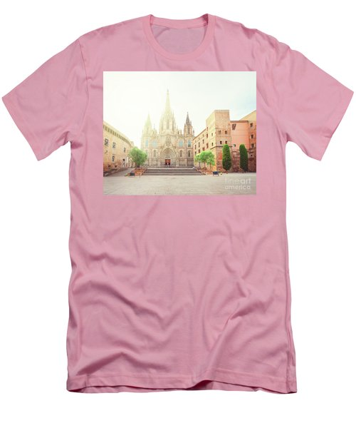 Gotic Cathedral  Of Barcelona Men's T-Shirt (Athletic Fit)