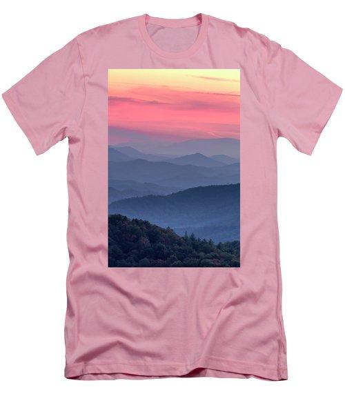 Great Smoky Mountain Sunset Men's T-Shirt (Slim Fit) by Teri Virbickis