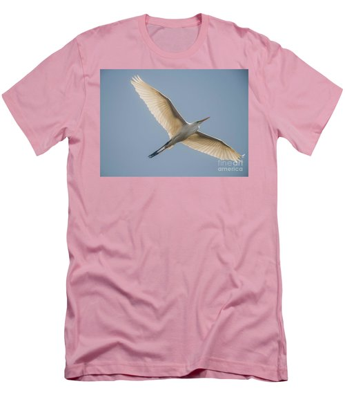 Men's T-Shirt (Slim Fit) featuring the photograph Great White Egret by David Bearden