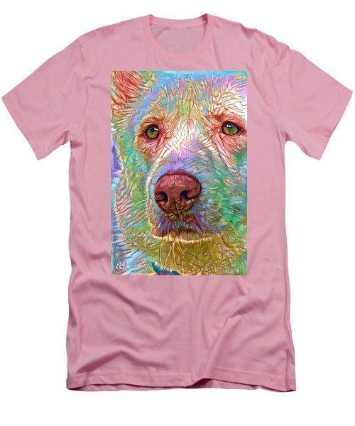 Green Eyes Men's T-Shirt (Slim Fit) by Geri Glavis