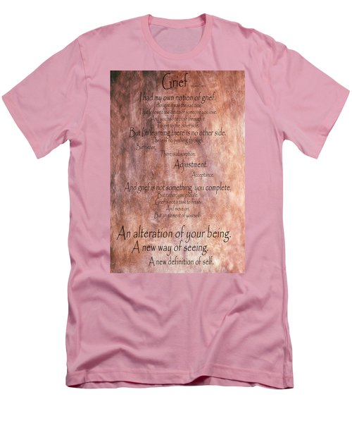 Men's T-Shirt (Slim Fit) featuring the mixed media Grief 1 by Angelina Vick