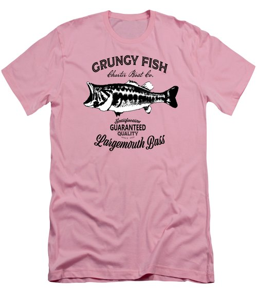 Grungy Fish Men's T-Shirt (Athletic Fit)