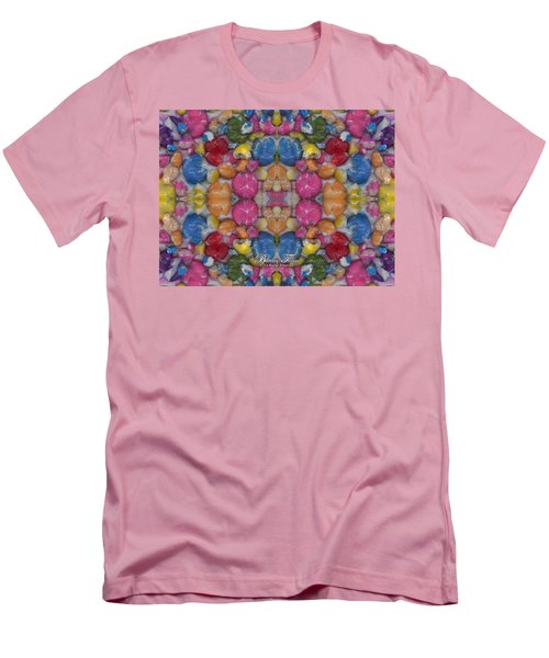 Gumballs #0000a_2 Men's T-Shirt (Slim Fit) by Barbara Tristan