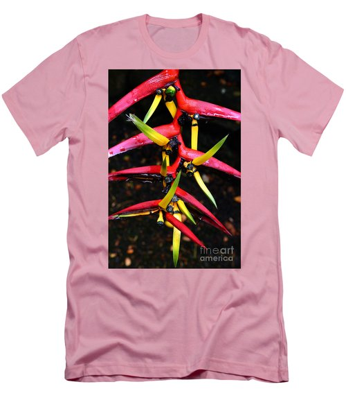 Haleconia Pink Gold And Green Men's T-Shirt (Athletic Fit)
