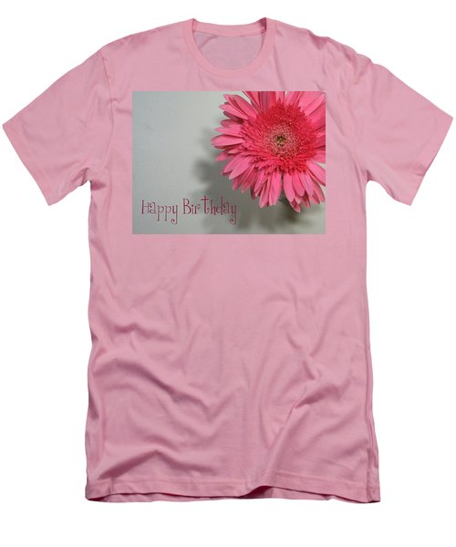 Men's T-Shirt (Slim Fit) featuring the painting Happy Birthday by Marna Edwards Flavell