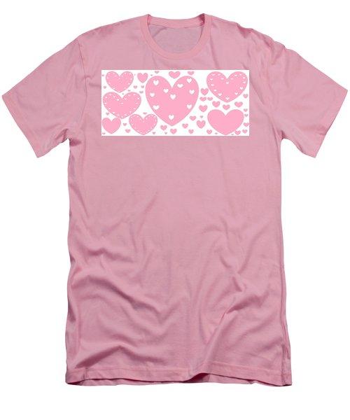 'just Hearts' Men's T-Shirt (Slim Fit) by Linda Velasquez