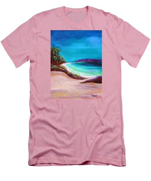 Hawaiin Blue Men's T-Shirt (Slim Fit) by Patricia Piffath
