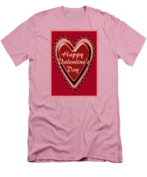 Heart Valentine Card Men's T-Shirt (Athletic Fit)