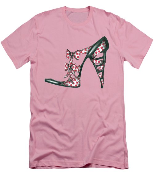 Her Shoe  Men's T-Shirt (Slim Fit) by Herb Strobino