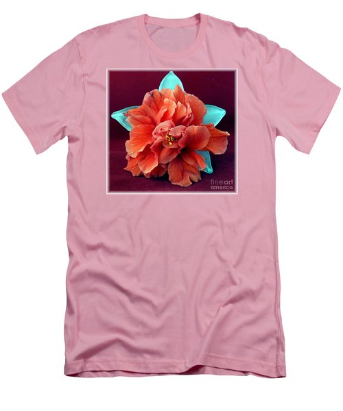 Hibiscus On Glass Men's T-Shirt (Slim Fit) by Barbie Corbett-Newmin