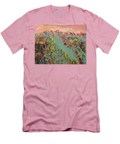 Hillside Flowers Men's T-Shirt (Athletic Fit)