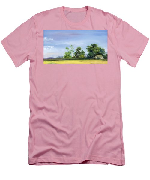 Men's T-Shirt (Slim Fit) featuring the painting Homestead by Jane Autry