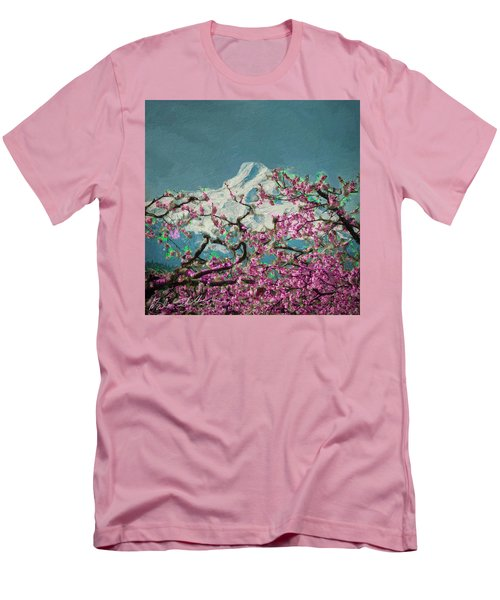 Men's T-Shirt (Slim Fit) featuring the digital art Hood Blossoms by Dale Stillman