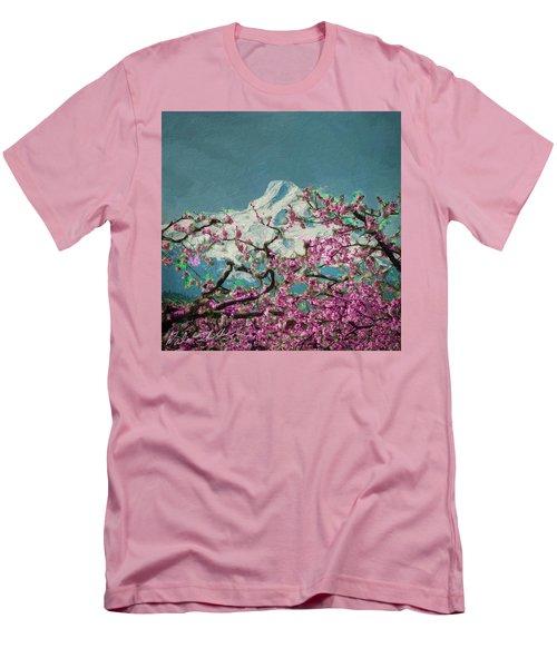 Hood Blossoms Men's T-Shirt (Slim Fit) by Dale Stillman