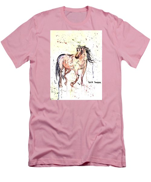 Men's T-Shirt (Slim Fit) featuring the painting Horse Seekers by Denise Tomasura
