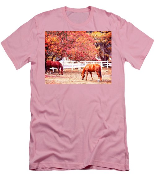 Horses, Grazing Men's T-Shirt (Athletic Fit)