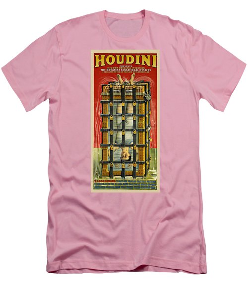 Houdini Advertisement 1916 Men's T-Shirt (Slim Fit) by Andrew Fare