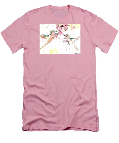 Men's T-Shirt (Slim Fit) featuring the painting Hummers by Denise Tomasura