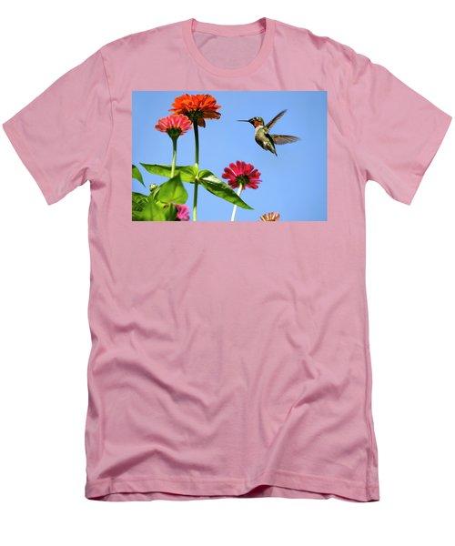 Hummingbird Happiness Men's T-Shirt (Athletic Fit)