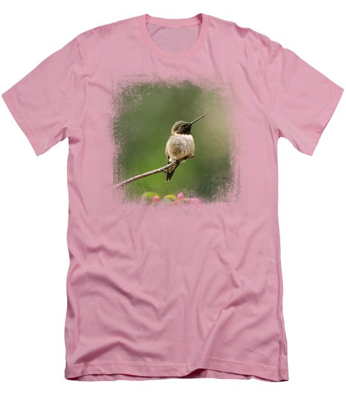 Hummingbird In The Garden Men's T-Shirt (Athletic Fit)