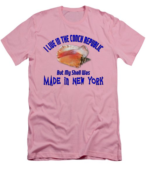 I Live In The Conch Republic Men's T-Shirt (Slim Fit) by Bob Slitzan