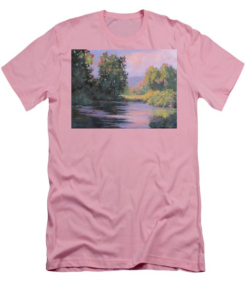 Men's T-Shirt (Slim Fit) featuring the painting In Another Light by Karen Ilari
