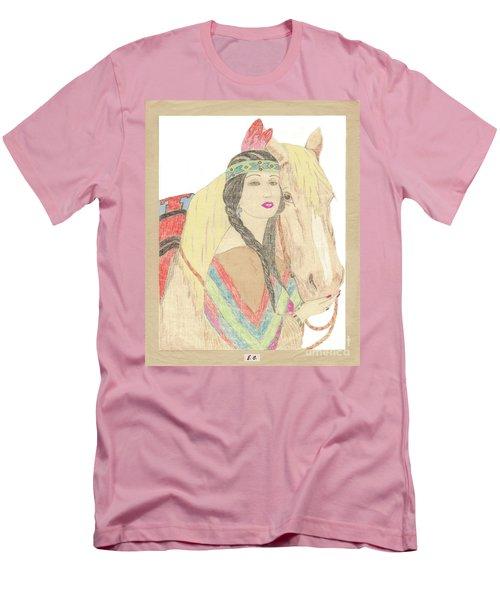 Indian Princess At Fair Men's T-Shirt (Athletic Fit)