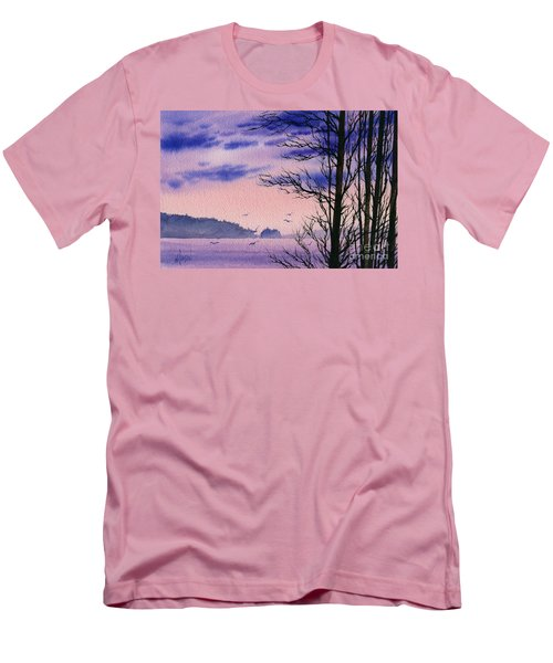 Men's T-Shirt (Slim Fit) featuring the painting Island Point by James Williamson