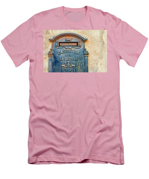 Italian Mailbox Men's T-Shirt (Slim Fit) by Silvia Ganora