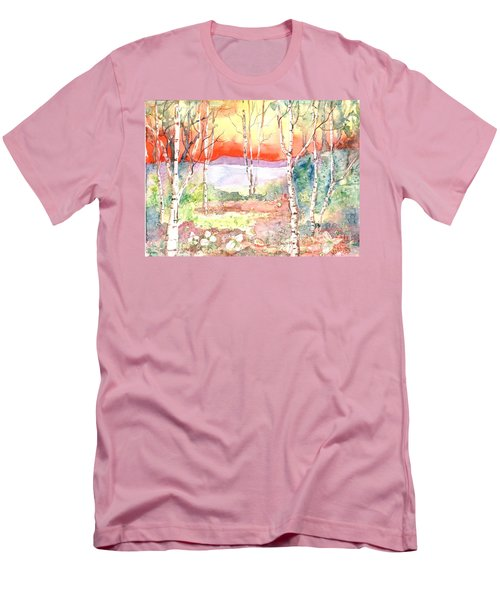 Men's T-Shirt (Slim Fit) featuring the painting Ivan's Eve by Renate Nadi Wesley
