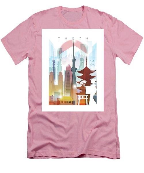 Japan Tokyo 2 Men's T-Shirt (Slim Fit) by Unique Drawing