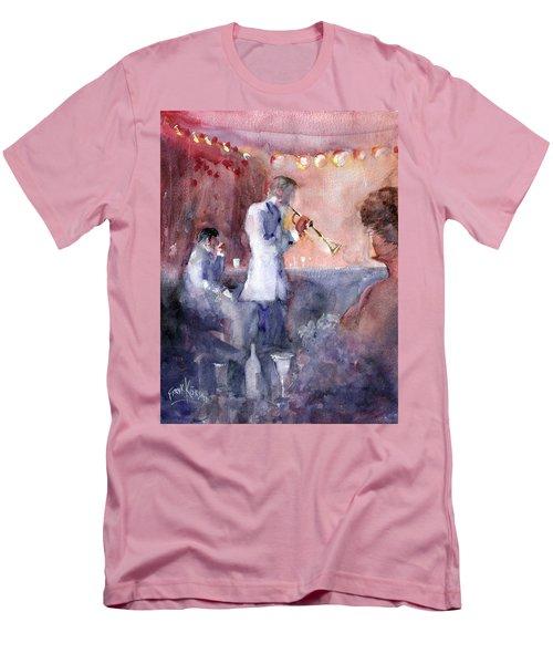 Jazz Nights Men's T-Shirt (Slim Fit) by Faruk Koksal