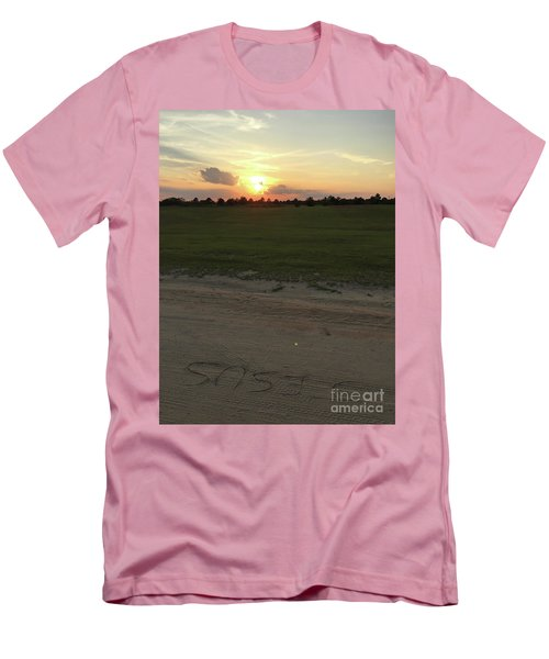 Jesus Healing Sunset Men's T-Shirt (Athletic Fit)