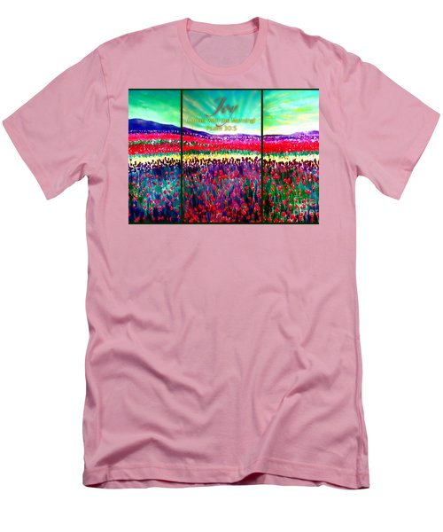 Joy Comes With The Morning Triptych  Men's T-Shirt (Slim Fit) by Kimberlee Baxter
