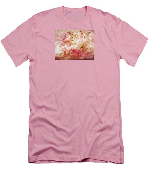 Jubilee Blush Men's T-Shirt (Slim Fit) by Jean OKeeffe Macro Abundance Art
