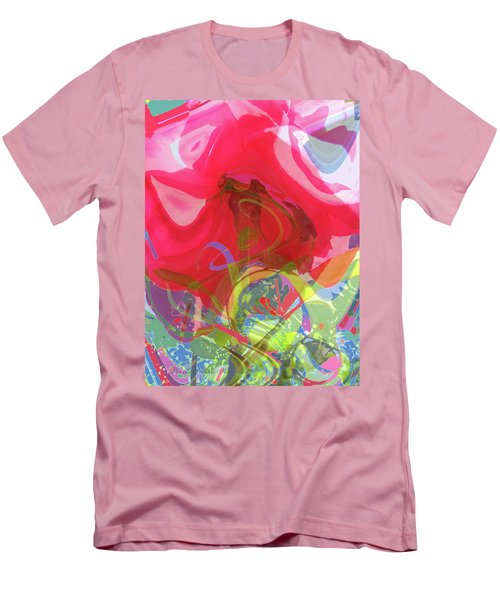 Just A Wild And Crazy Rose - Floral Abstract Men's T-Shirt (Slim Fit) by Brooks Garten Hauschild