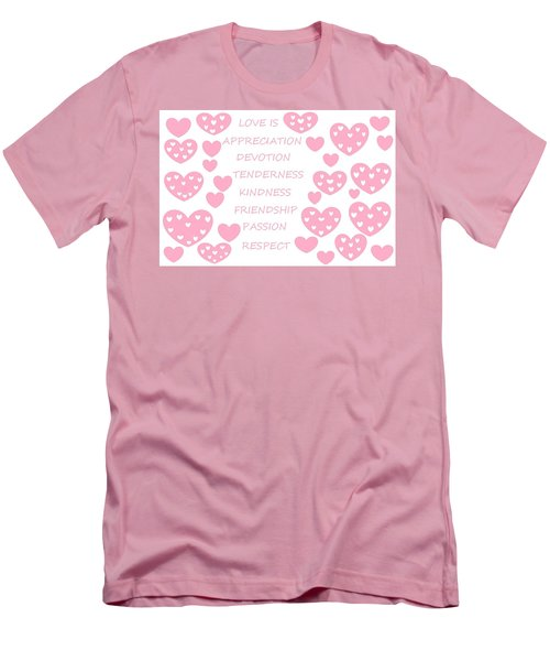 Just Hearts 3 Men's T-Shirt (Athletic Fit)