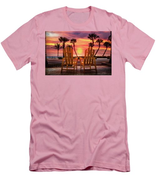 Men's T-Shirt (Slim Fit) featuring the photograph Just The Two Of Us by Debra and Dave Vanderlaan
