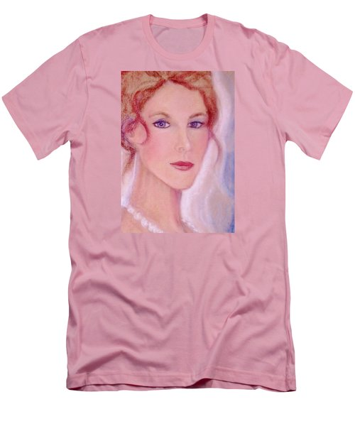 Men's T-Shirt (Slim Fit) featuring the drawing Kate by Denise Fulmer