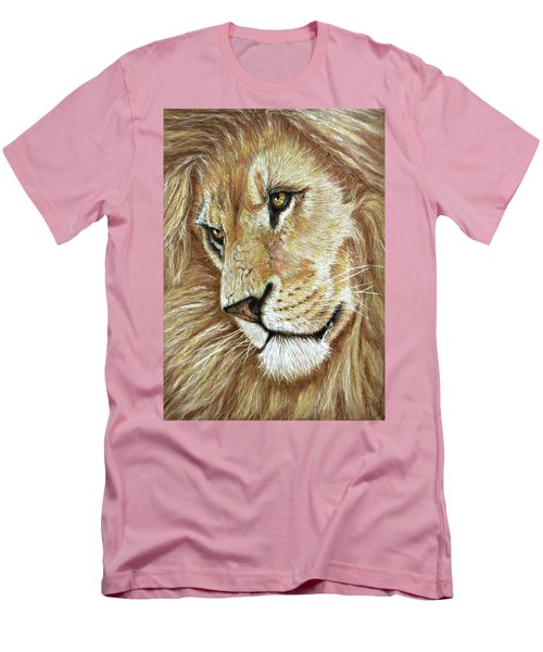 Men's T-Shirt (Slim Fit) featuring the drawing King Of The Jungle by Heidi Kriel