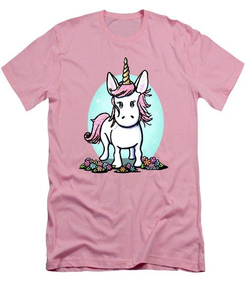 Kiniart Unicorn Sparkle Men's T-Shirt (Slim Fit) by Kim Niles