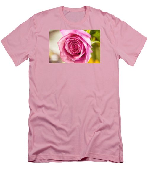 Men's T-Shirt (Slim Fit) featuring the photograph Kissed With Pink by Joan Bertucci