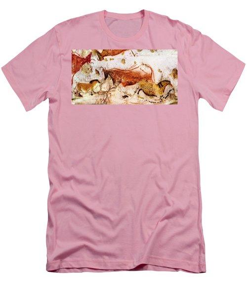 Lascaux Cow And Horses Men's T-Shirt (Athletic Fit)
