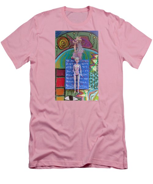 Men's T-Shirt (Slim Fit) featuring the painting Lavender Herbal Tincture by Clarity Artists