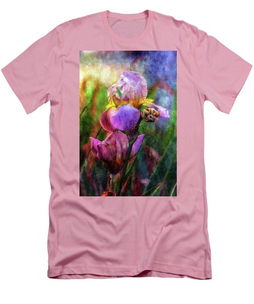 Lavender Iris Impression 0056 Idp_2 Men's T-Shirt (Athletic Fit)