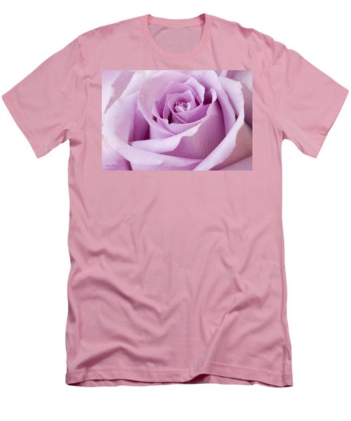 Lavender Rose Just About Perfect  Men's T-Shirt (Slim Fit) by Sandra Foster