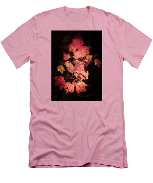 Men's T-Shirt (Slim Fit) featuring the photograph Leaves Of Surrender by Karen Wiles